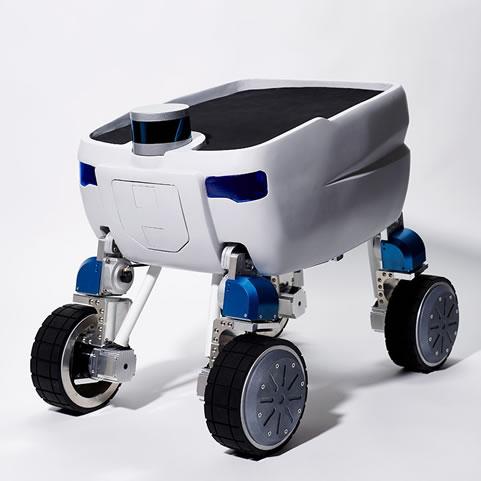 開発を進めている搬送用自律移動ロボット「Mighty」